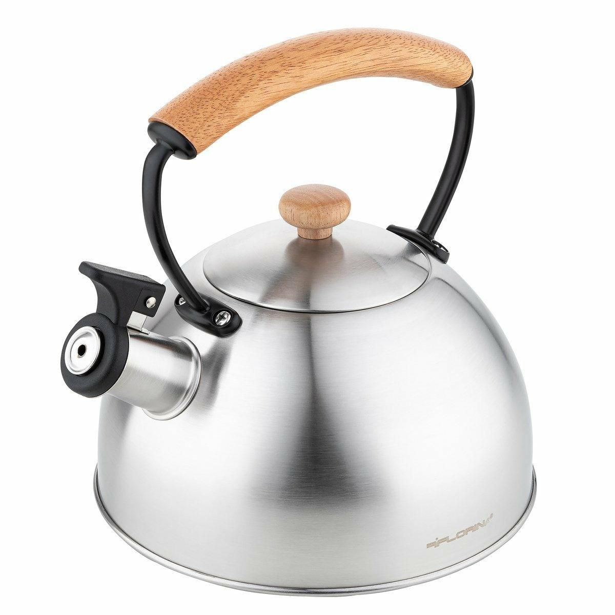Florina Nerezový čajník Natura Line 2,3 l, stříbrná