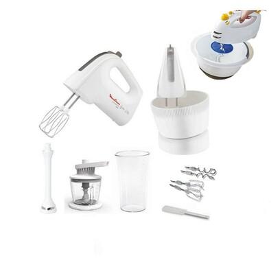 Ruční mixér, POWERMIX s rotační nádobou, Moulinex, bílá