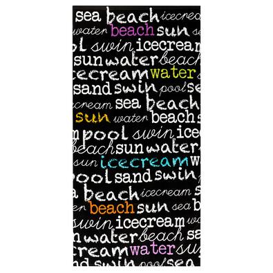 Plážová osuška Letters, 70 x 150 cm