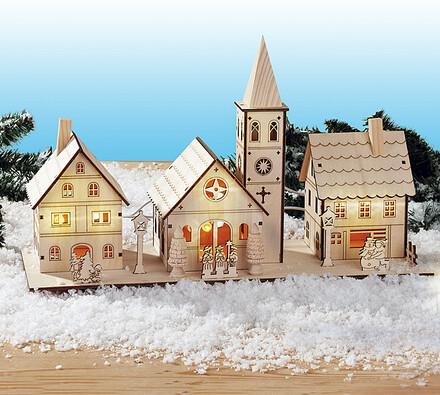 """Vánoční svícen """"""""Zimní vesnice"""""""""""