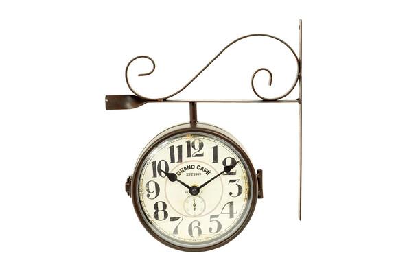 Nástenné oboustranné hodiny 16 cm