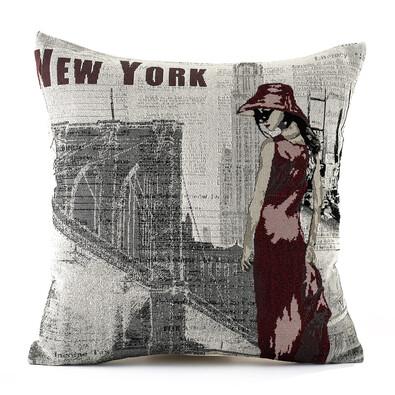 Povlak na polštářek Gobelín New York, 45 x 45 cm