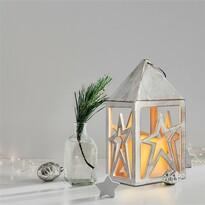 Solight Lucerna s LED svíčkou Hvězda, 21 cm