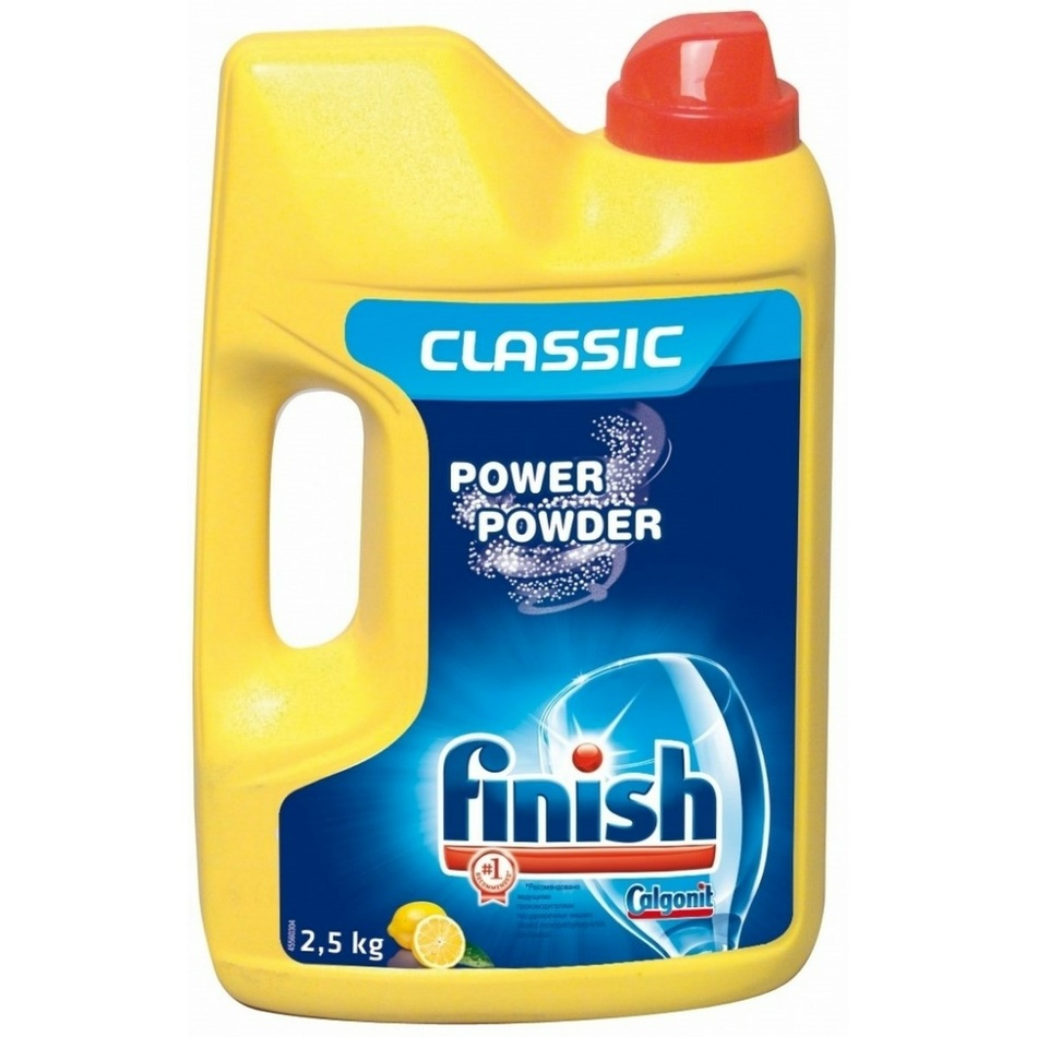 Calgonit Finish Power Powder Lemon prášek do myčky 2,5 kg