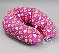 Praktický kojící polštář, růžová, 175 x 25 cm