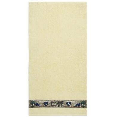 Love fürdőlepedő vanilia színű, 70 x 140 cm