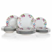 Banquet 18-częściowy zestaw jadalny Pink Flowers