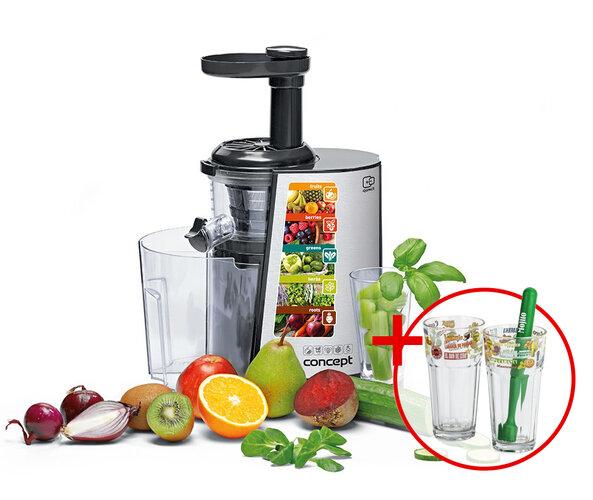Concept LO-7055 šnekový lis na ovoce a zeleninu +dárek 3dílná sada na Mojito