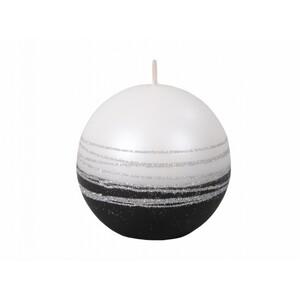 Vánoční svíčka Lumina Silver koule, bílá