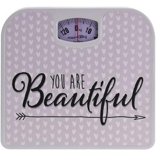 Osobní váha You are beautiful, béžová
