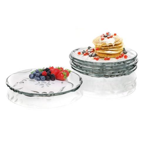 Pasabahce 6 részes desszertes tányér készlet, Gyöngy, 19,4 cm