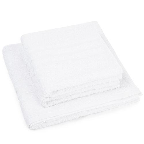 Sada ručníků a osušky Classic bílá, 2 ks 50 x 100 cm, 1 ks 70 x 140 cm