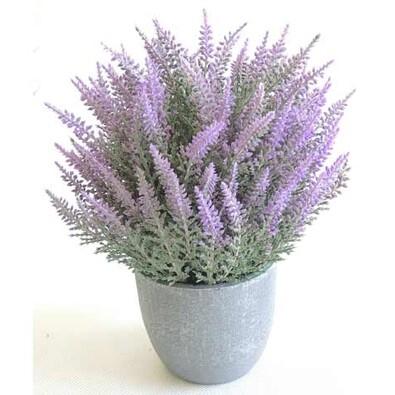 Umělá květina v květináči fialová