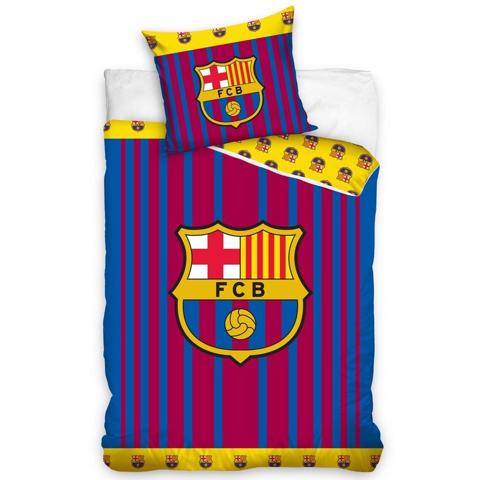 51a5d06355799 Carbotex Bavlnené obliečky FC Barcelona Vertical, 140 x 200 cm, 70 x 90 cm