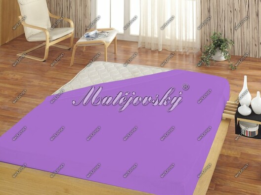 Matějovský jersey prostěradlo světle fialová, 180 x 200 cm