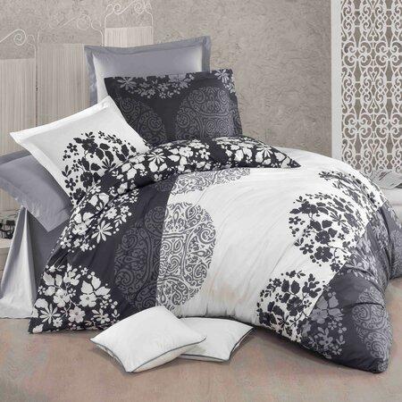 Bavlnené obliečky Delux Grey fields, 200 x 200 cm, 2 ks 70 x 90 cm