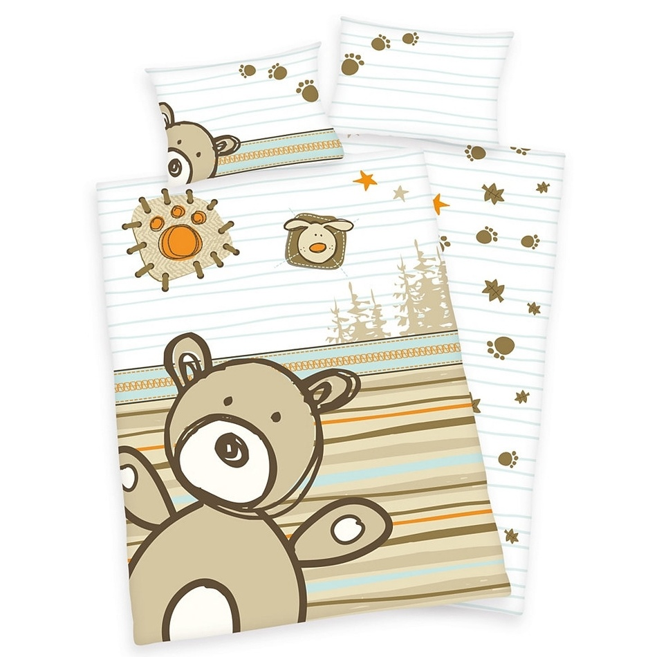 Herding Dětské povlečení do postýlky Lara Bear bavlna, 135 x 100 cm, 40 x 60 cm