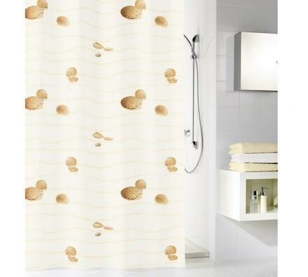 Kleine Wolke sprchový závěs Mušličky béžová, 180 x 200 cm