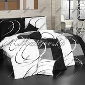 Matějovský bavlněné povlečení Royal black, 140 x 220 cm, 70 x 90 cm
