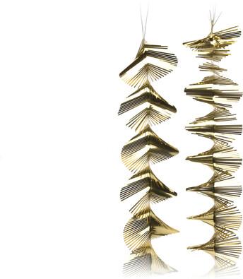 Vánoční girlanda 150 cm, zlatá