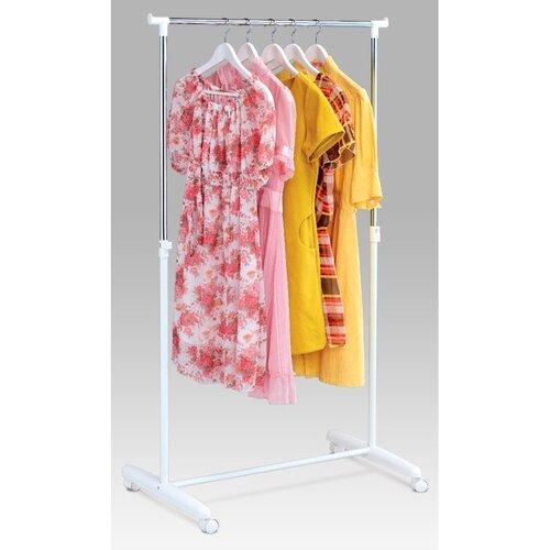Autronic Stojan na šaty chróm / biela, 80 x 160 cm