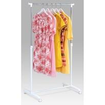 Stojak na sukienkę chrom / biały, 80x160 cm