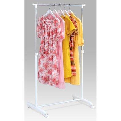 Stojan na šaty chrom / bílá, 80 x 160 cm