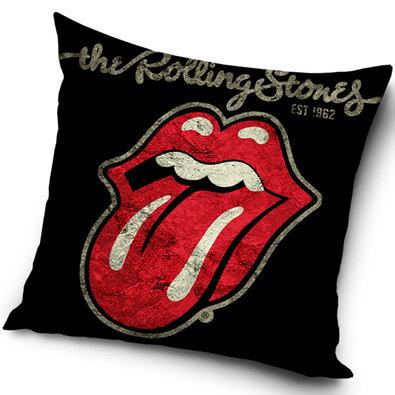 Obliečka na vankúšik Rolling Stones Black, 45 x 45 cm