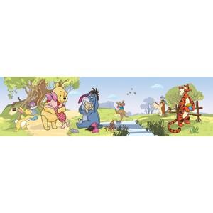 AG Art Samolepicí bordura Medvídek Pú a přátelé, 500 x 14 cm