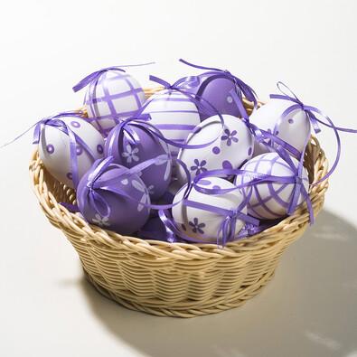 Velikonoční vajíčka, sada 18 ks, fialová