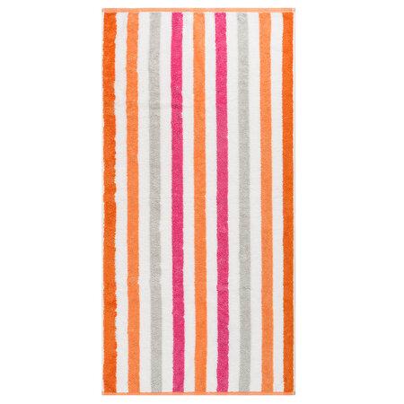 Cawo Frottier ručník Stripe pink, 50 x 100 cm