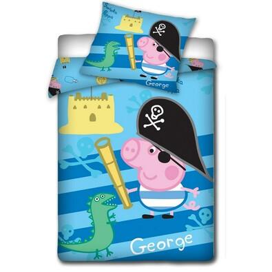 Dětské povlečení Peppa Pig - George pirát, 140 x 200 cm, 70 x 80 cm