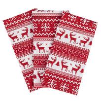 Vianočná utierka Sob červená, 50 x 70 cm, sada 3 ks