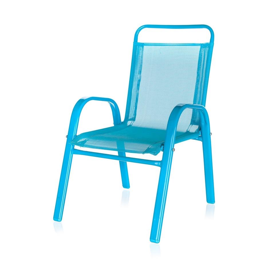 HAPPY GREEN Dětská zahradní židle stohovatelná modrá 50XT2930A