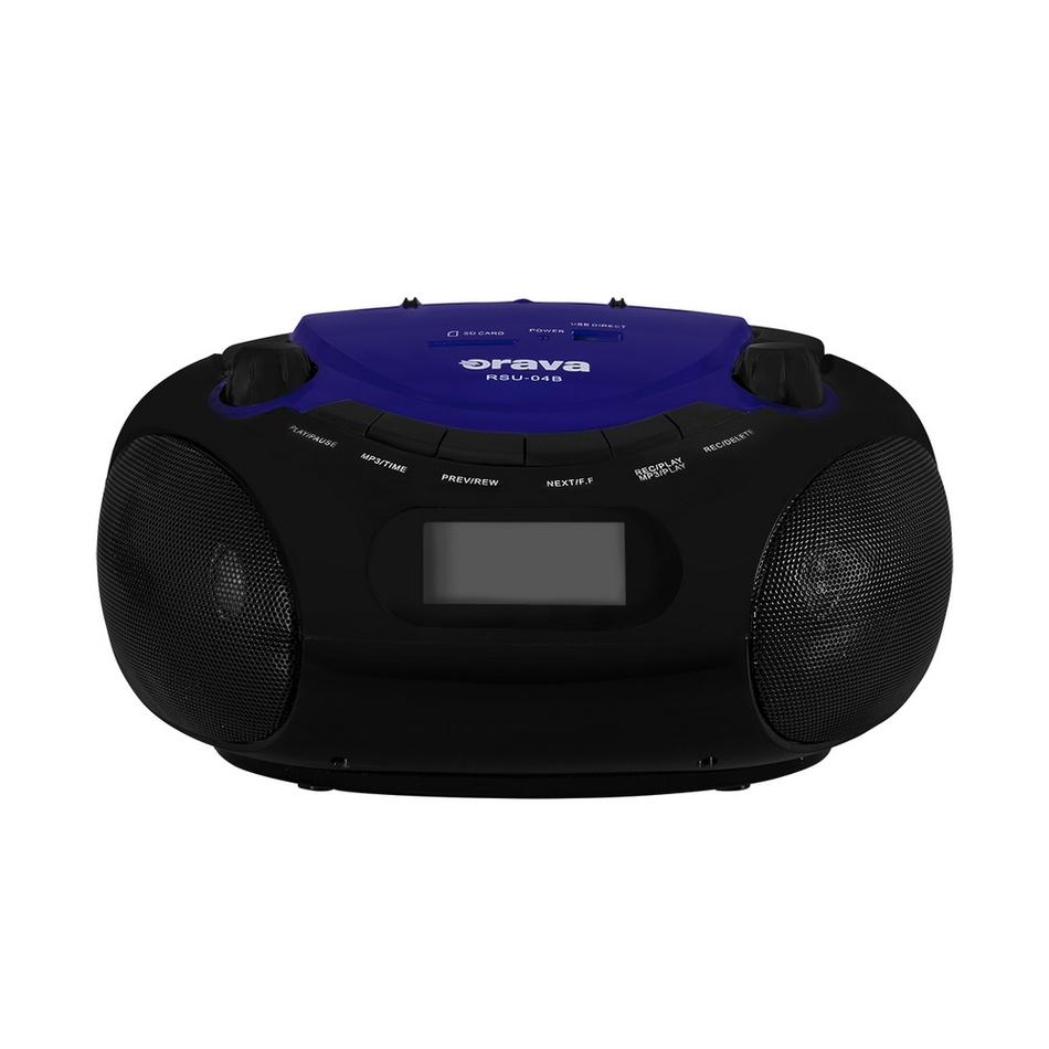 Přenosný USB/SD přehrávač Orava RSU-04 B, černá