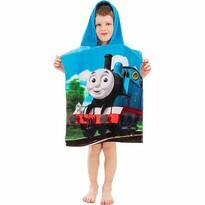 Poncho de copii, Maşinuţa Thomas, 50 x 115 cm