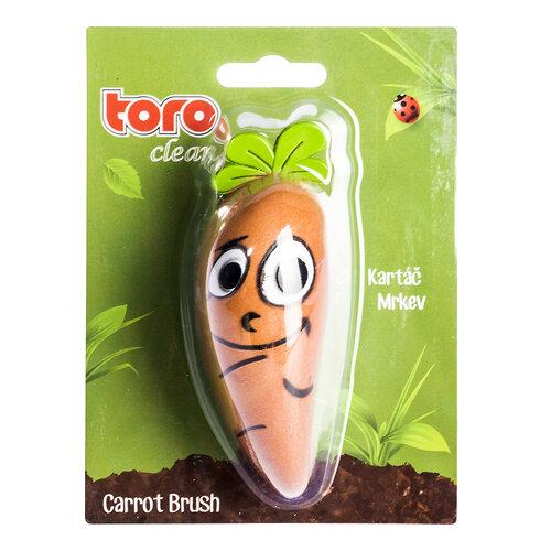 Toro Szczoteczka do warzyw Marchew 11,5 x 4 x 5,5 cm