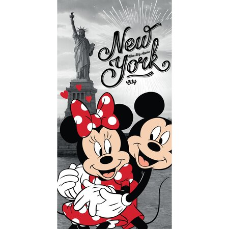 Prosop Mickey and Minnie in New York, 70 x 140 cm