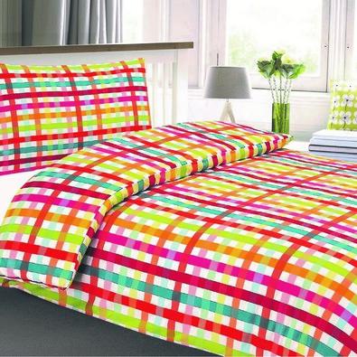 Lenjerie pat 1 pers. Bonita Cubito creponată  , 140 x 200 cm, 70 x 90 cm