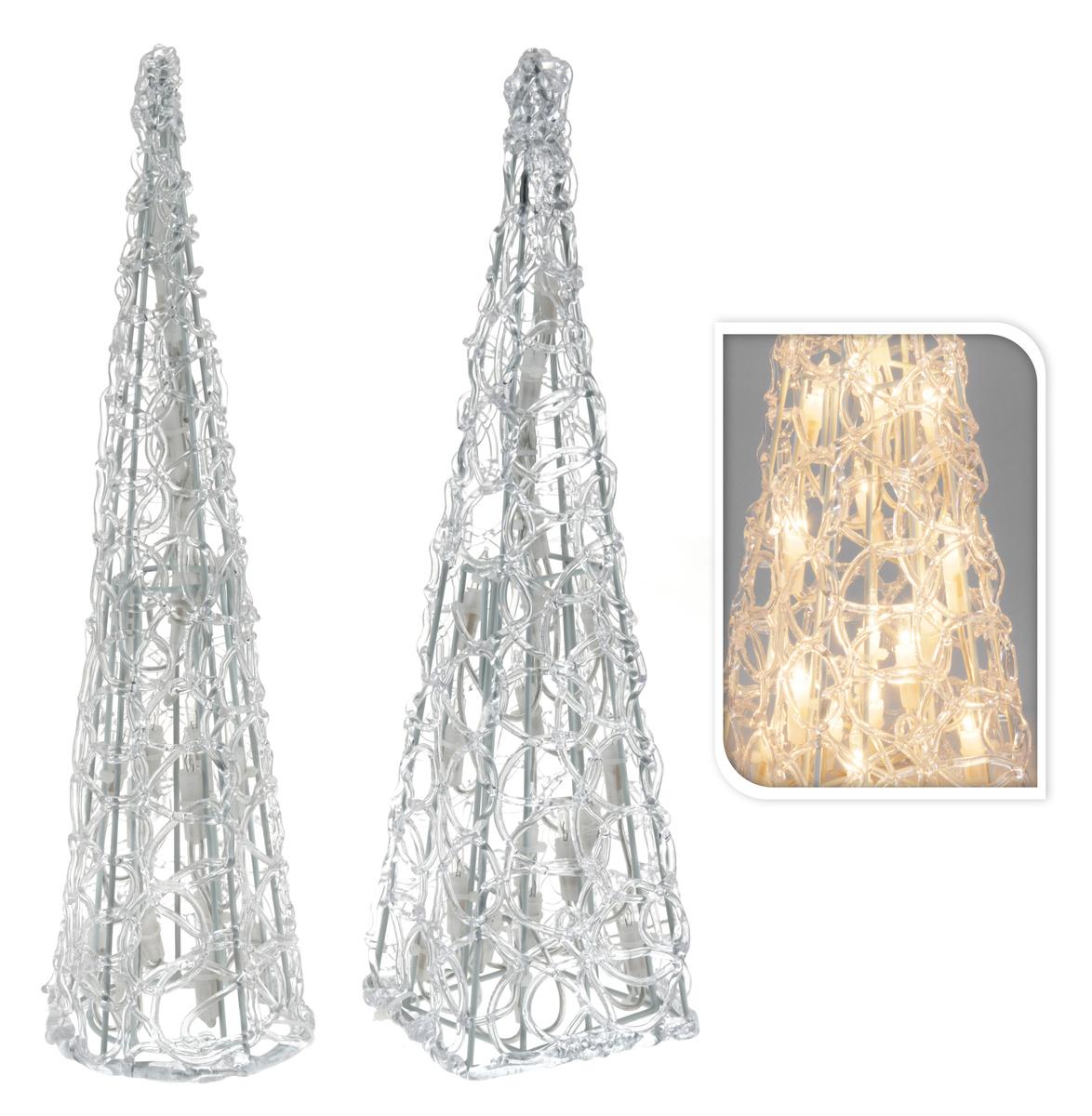 Svíticí pyramida, 20 světel, 38 x 10 cm