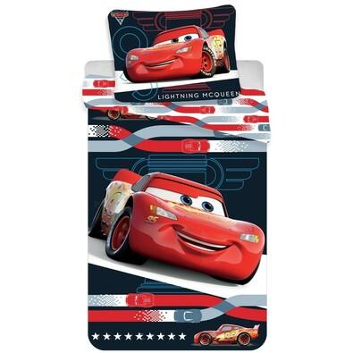 Lenjerie de pat pentru copii Cars 3 McQueen micro, 140 x 200 cm, 70 x 90 cm