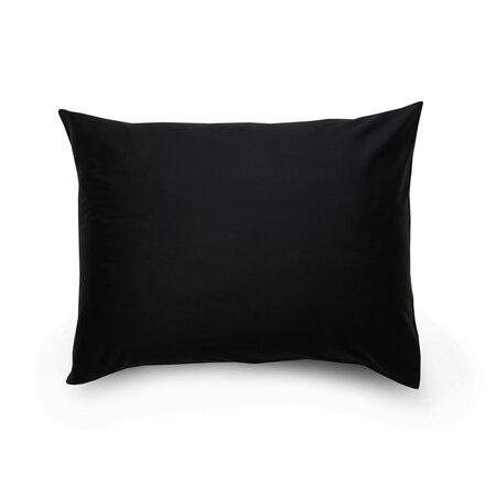 Fekete / sötét lila szatén párnahuzat, 70 x 90 cm