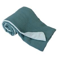 Pătură de copii turcoaz/verde, 75 x 100 cm