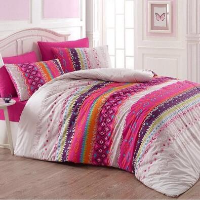 Bavlněné povlečení Melanie fialová, 140 x 220 cm, 70 x 90 cm