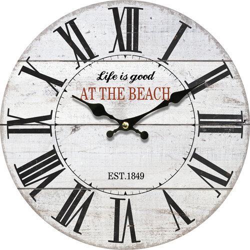 Ceas de perete, din lemn, At the beach, diam.  34 cm