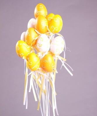 Velikonoční vajíčka na tyčce, oranžová