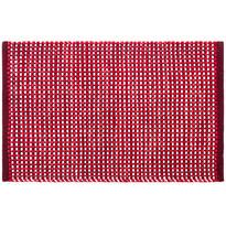 Kusový bavlněný koberec Elsa červená, 50 x 80 cm