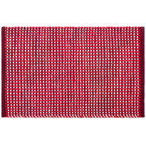Kusový bavlnený koberec Elsa červená, 50 x 80 cm