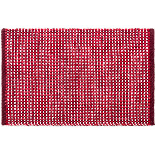 Covor bumbac Elsa, roșu, 50 x 80 cm