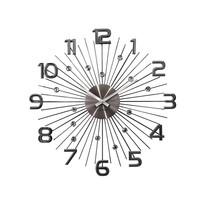 Zegar ścienny Lavvu Crystal Sun LCT1151, antracyt, śr. 49 cm